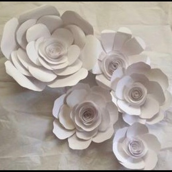 Other pure white paper flowers poshmark pure white paper flowers mightylinksfo